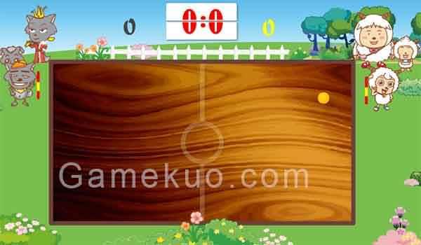 喜羊羊青青草原乒乓賽-遊戲圖