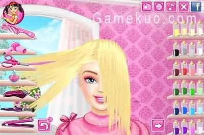 芭比的新髮型(Barbie Real Haircuts)遊戲圖