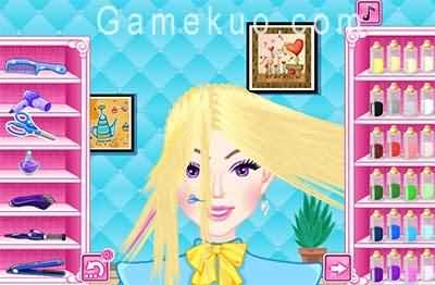芭比的髮型設計2-遊戲圖