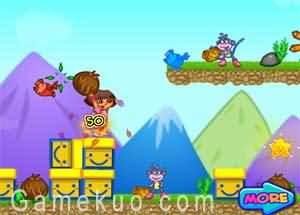 dora探險扔椰子(Dora Explorer Throw Coconut)遊戲圖