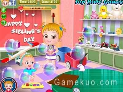 可愛寶貝兄弟姐妹節(Baby Hazel Siblings Day)遊戲圖
