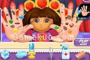 dora治療手傷(Dora Hand Doctor)遊戲圖一