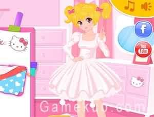 設計凱蒂貓連衣裙(Design Your Hello Kitty Dress)遊戲圖