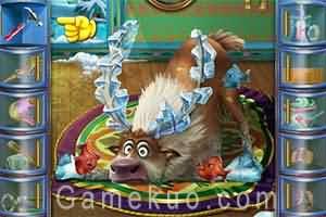 冰雪奇緣受傷的麋鹿(Frozen Sven Pet Rescue)遊戲圖