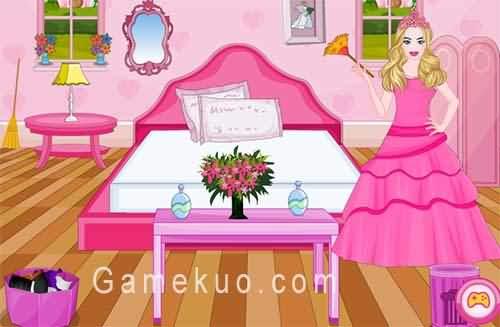 芭比公主整理房間(Barbie Princess Room Cleaning)遊戲圖
