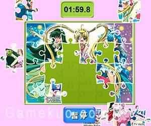 真珠美人魚拼圖(mermaid melody jigsaw)遊戲圖