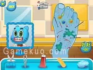 陶阿甘腳傷看醫生(Gumball Foot Doctor)遊戲圖