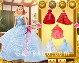 芭比娃娃的禮服-遊戲圖