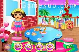 Dora佈置派對(Dora Party Prepanig)遊戲圖