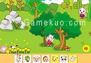 巧虎森林躲貓貓-遊戲圖