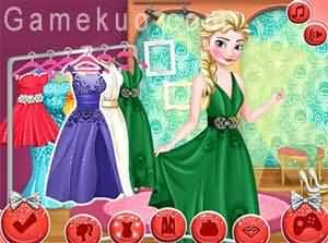 艾爾莎舞會裝扮(elsa prom night)遊戲圖