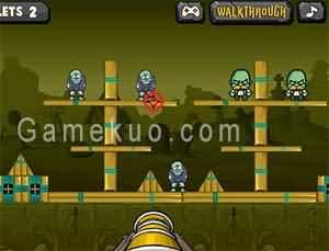 大炮轟殭屍(Bang The Zombies)遊戲圖
