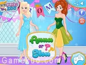 冰雪姐妹做美甲(Frozen Prom Nails Designer)遊戲圖