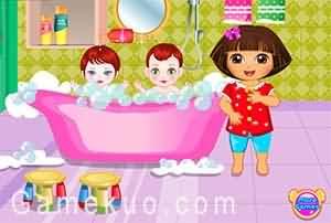 Dora照顧小寶貝(Dora Sibling Cares)遊戲圖