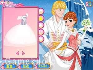 安娜公主婚禮邀請卡-遊戲圖