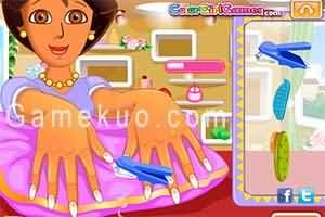 朵拉幫媽媽美甲(Dora Hand Spa For Mom)遊戲圖