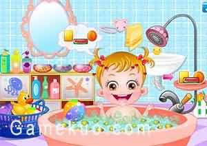 可愛寶貝愛洗澡-遊戲圖