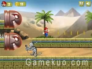 瑪莉歐埃及之旅(Mario Egypt Run)遊戲圖