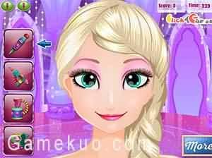 艾莎的臉部彩繪(Elsa Face Art)遊戲圖
