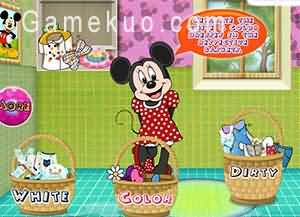 米妮洗衣服(Minnie Mouse Washing Clothes)遊戲圖
