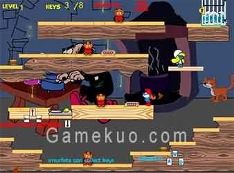 藍精靈迷宮逃生(Smurfs Labyrinth Escape)遊戲圖