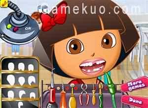 Dora完美的牙齒(Dora The Explorer Perfect Teeth)遊戲圖