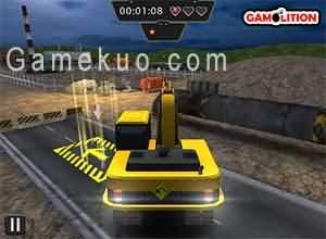 3D重型挖掘機停靠(Heavy Excavator 3d Parking)遊戲圖