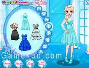 冰雪姐妹畢業換裝(Frozen Sisters Graduation Makeover)艾莎遊戲圖