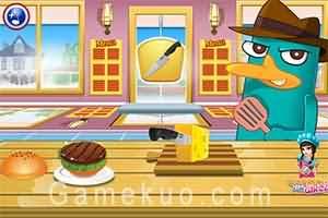 泰瑞烹飪美國漢堡(Perry Cooking American Hamburger)遊戲圖