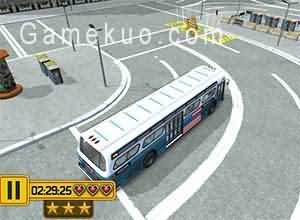 美國大巴士停車(American Bus 3d Parking)遊戲圖