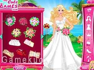 芭比結婚禮服(50 Wedding Gowns For Barbie)遊戲圖