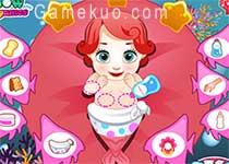 美人魚愛麗兒生寶寶(Mermaid Ariel Give Birth To A Baby)遊戲圖三