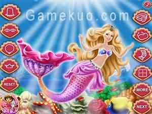 珍珠美人魚公主換裝(The Pearl Princess Dress Up)遊戲圖