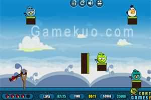 憤怒鳥再次出擊(Angry Birds Sling Shooter)遊戲圖