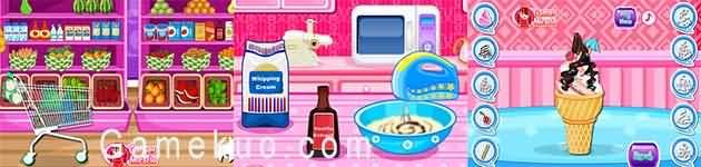 美味水果冰淇淋(Cooking Fruit Ice Cream)遊戲圖