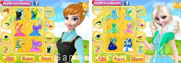 艾莎和安娜裝扮(Elsa And Anna Makeup)遊戲圖
