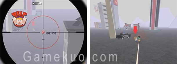 3D當個創世神狙擊殭屍(Zombie Town Sniper)遊戲圖