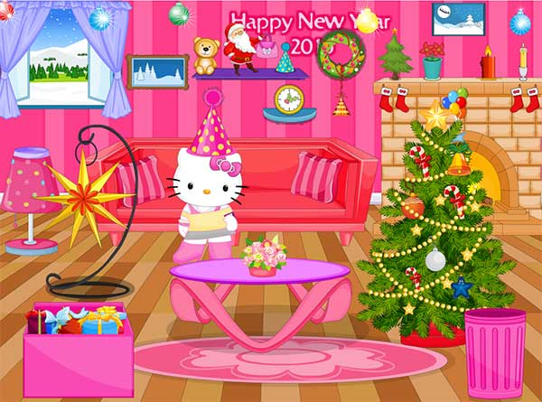 Hello Kitty新年佈置(Hello Kitty New Year Decoration Games)