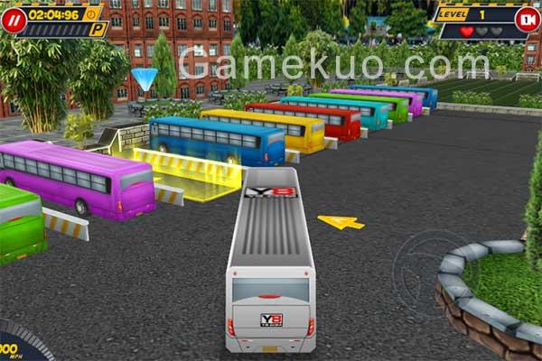 3D公共巴士停車場(Bus Parking 3d World)遊戲圖
