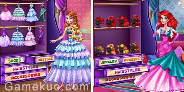 安娜和愛麗兒公主裝扮(Anna And Ariel Princess Ball Dress Up)遊戲圖