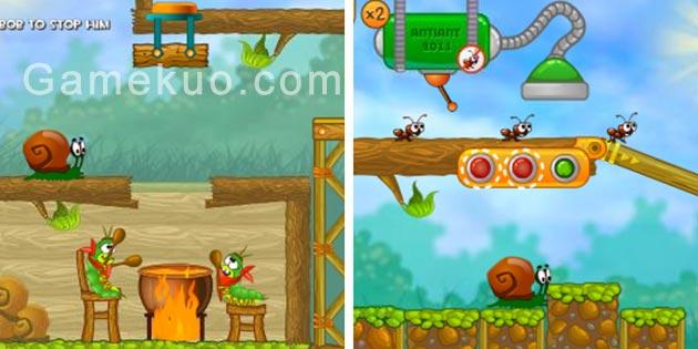 蝸牛冒險記2手機版(Snail Bob 2)遊戲圖
