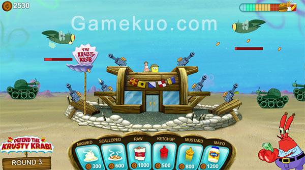 保衛海綿寶寶(Spongebob Defend the Krusty Krab)遊戲圖