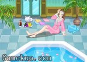 美女溫泉浴