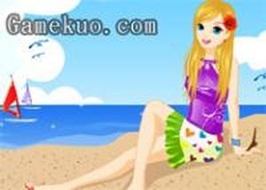 女孩沙灘裝扮