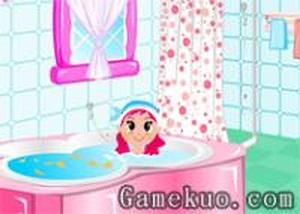 佈置女生浴室