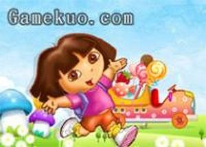 Dora運糖果