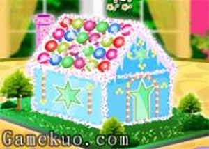 佈置聖誕節蛋糕屋