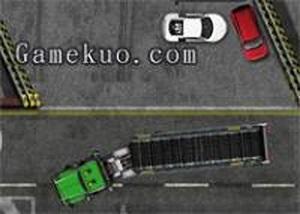 停靠超長大卡車