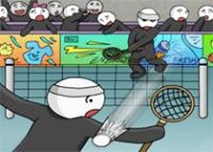 火柴人打羽毛球2