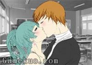 漫畫情侶接吻換裝